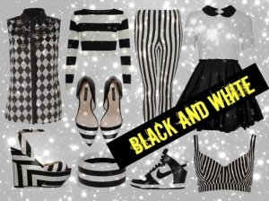 Black and white, trend 2013.