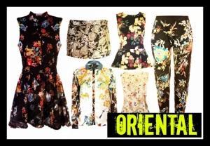 Oriental flowers, trend 2013.