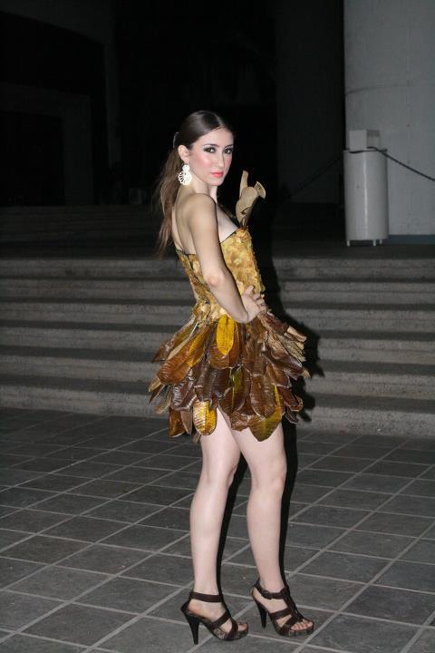 El vestido ganador, diseño y confección de Laura Ortiz.