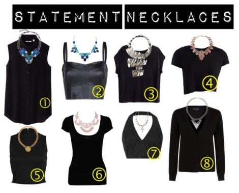 ¿Cómo usar 'statement necklaces'?