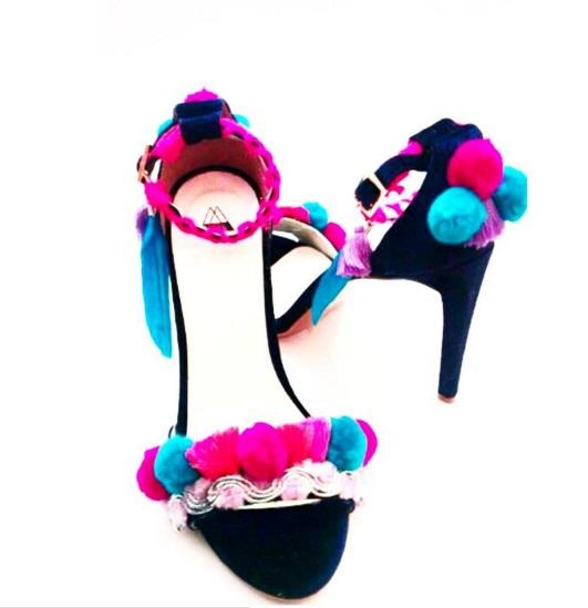 pompon sandals